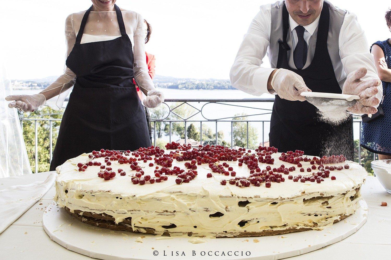 Matrimonio Bianco e Verde - Wedding Experience - la torta