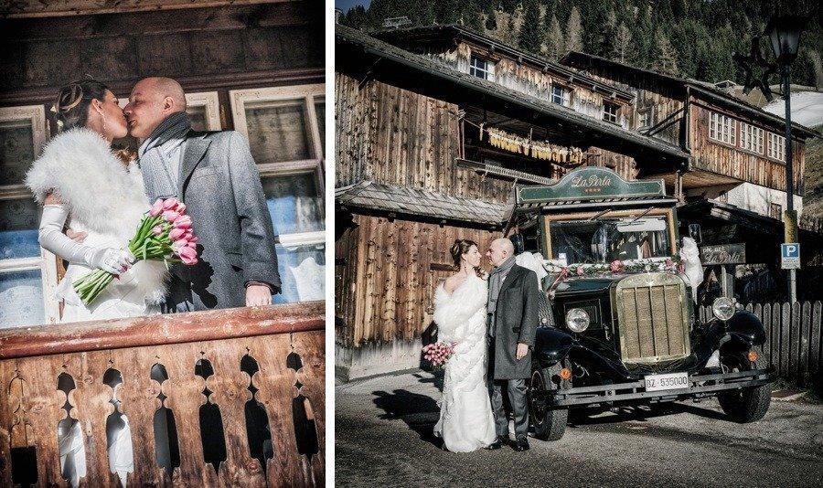 Matrimonio Bianco e Fucsia navetta Vintage Amato Wedding Planner