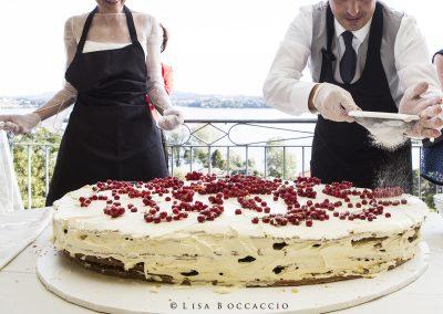 La torta nuziale realizzata dagli sposi!
