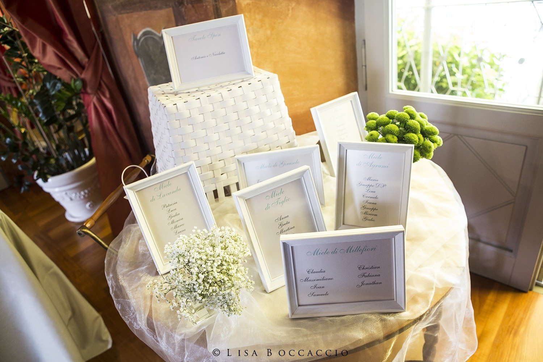 Matrimonio Bianco e Verde_tableau de mariage