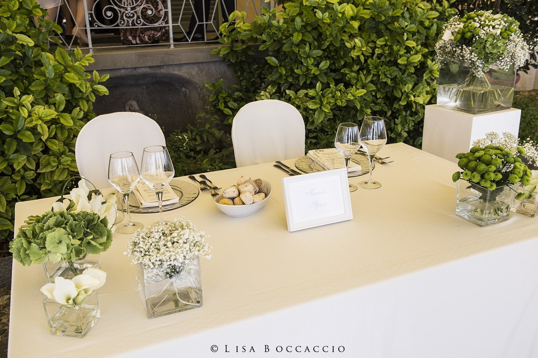 Matrimonio Bianco e Verde_tavolo degli sposi